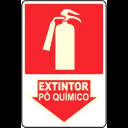 PLACA FOTOLUMINESCENTE EXTINTOR DE PÓ