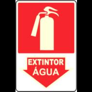 PLACA FOTOLUMINESCENTE EXTINTOR ÁGUA